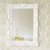 Petite Ruffle Edge Mirror - High Gloss White