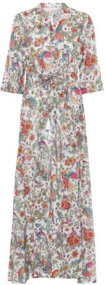 Tory Burch Printed cotton maxi shirt dress