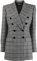 Dolce & Gabbana Glen plaid double-breasted blazer