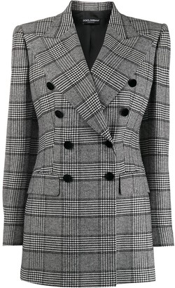 Dolce & Gabbana Glen plaid double-breasted blazer