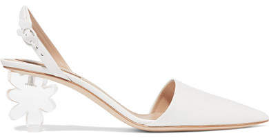 Simone Rocha Leather And Perspex Slingback Pumps - White