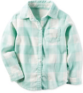Carter's Check Flannel Button-Front Shirt, Toddler Girls (2T-5T)