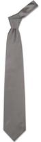 Forzieri Solid Grey Extra-Long Tie