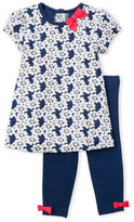 Little Me Infant Girls) Two-Piece Floral Knit Tunic & Leggings Set