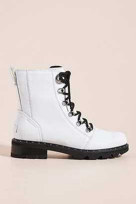 Sorel Lennox Lace-Up Boots By in White Size 7.5