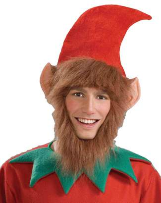 Forum Novelties Inc. Forum Novelties Men's Costume Elf Hat with Ears Hair and Beard