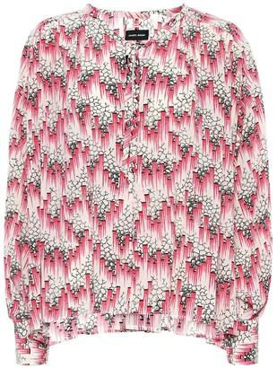 Isabel Marant Amba printed silk-blend crApe blouse