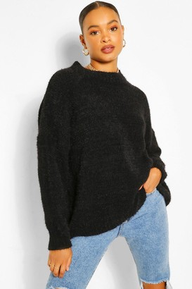 boohoo Soft Knit Slouchy Oversized Jumper