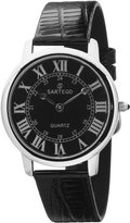 Sartego Men's SEN741B Toledo Leather Strap Quartz Watch