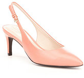 Cole Haan Medora Leather Pointed Toe Slingback Pumps