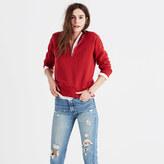 Madewell Rivet & Thread Distressed Half-Zip Sweatshirt