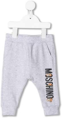 Moschino Kids logo print track trousers