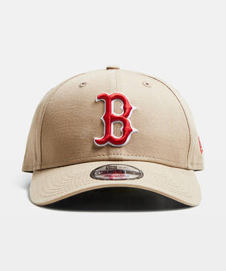 New Era 9Forty Boston Red Sox Curvepeak Camel/Red