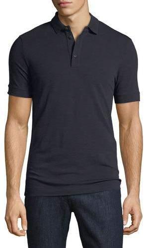 Giorgio Armani Solid Wool Polo Shirt