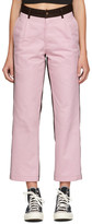 Noah NYC Pink and Brown Single Pleat Chinos