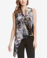 Karen Kane Asymmetrical Draped Surplice Top