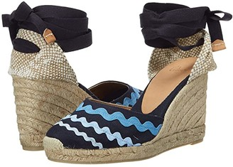Castaner Craby 80 Wedge Espadrille (Azul/Multicolor) Women's Shoes