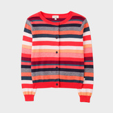 Paul Smith Girls' 7+ Years Multi-Colour Stripe Cotton-Blend Cardigan