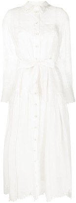Zimmermann Lovestruck scalloped-hem shirt dress