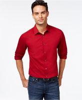 Alfani Men's Pinstripe Long-Sleeve Shirt, Slim Fit
