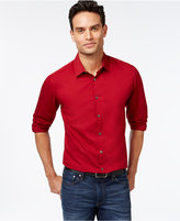Alfani Men's Tonal Stripe Long-Sleeve Shirt, Slim Fit, Only at Macy's