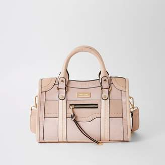 River Island Womens Pink studded cross body tote bag