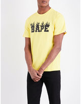 A Bathing Ape Flaming Logo-print Cotton-jersey T-shirt