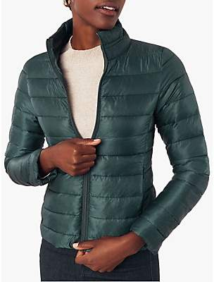 Oasis Quilted Stripe Puffer Jacket