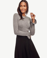 Ann Taylor Extrafine Merino Wool Ruffle Cuff Sweater