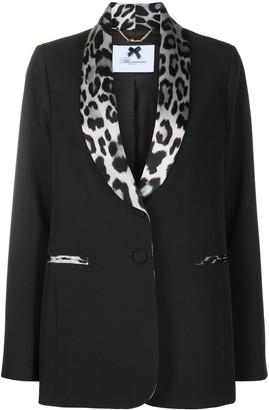 Blumarine Leopard Print Collar Blazer