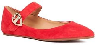 Love Moschino Pointed Toe Mary Jane Flat
