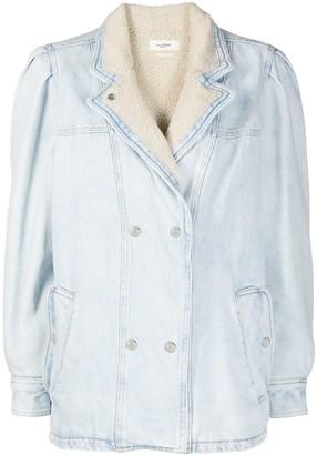 Etoile Isabel Marant Shearling-Lined Denim Jacket