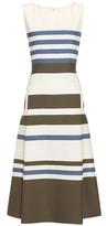 Loro Piana Mallorie striped cotton and silk dress