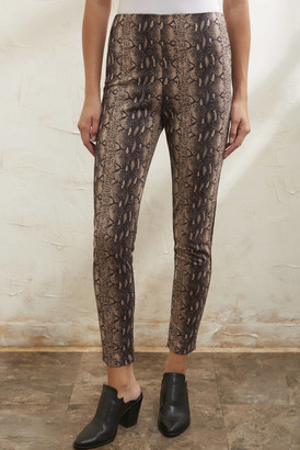 A Love Like You Suede Snake Skinny Pant Brown Multi XS