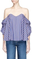 Caroline Constas 'Gabriella' stripe poplin off-shoulder bustier top