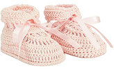Edgehill Collection Crochet Bow-Detailed Booties