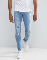 Blend Flurry Spray On Ripped Jean Light Wash