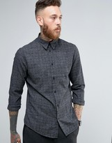 Selected Long Sleeve Slim Shirt in Brushed Check