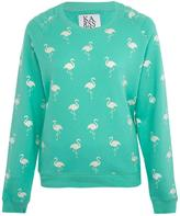 Zoe Karssen Green Flamingo Sweatshirt