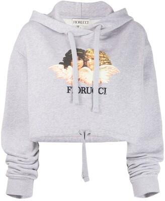 Fiorucci Vintage Angels cropped hoodie