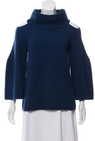 Schumacher Dorothee Cold-Shoulder Turtleneck Sweater