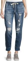 Joe's Jeans Distressed Denim Jogger Pants, Rubina Blue