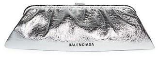 Balenciaga Extra-Large Cloud Metallic Leather Clutch