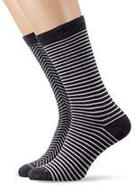 Scotch & Soda Men's Dark Calf Socks,pack of 2