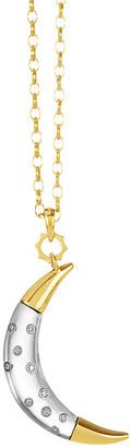 Monica Rich Kosann 18K Yellow Gold Lunar Moon Charm Necklace