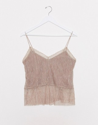 Pimkie lace detail camisole in pink