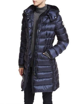 Moncler Hermine Hooded Long Puffer Coat