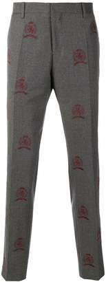 Tommy Hilfiger embroidered suit trousers