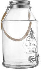 Jay Import Co La Maison 1948 Glass Beverage Dispenser w/ Rope Handle