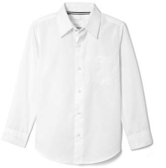 French Toast Big Boys Long Sleeve Dress Shirt with Expandable Collar